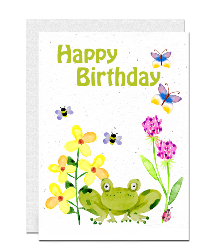 Happy Birthday plantable wildflower seed paper card 8