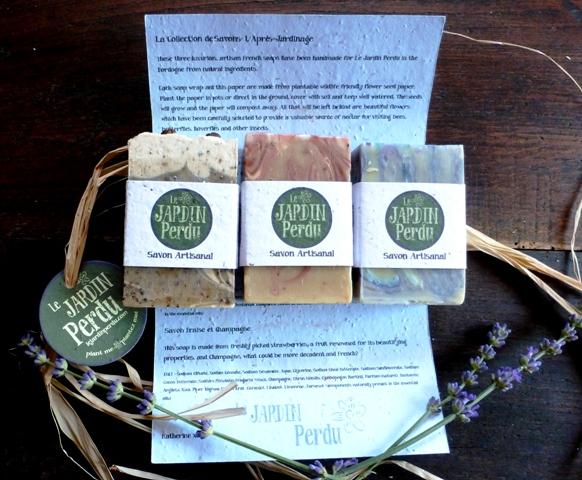 Le Jardin Perdu natural, handmade soaps