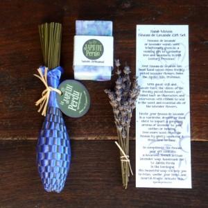 Hand-woven Fuseau de Lavande, Lavender Gift Set.