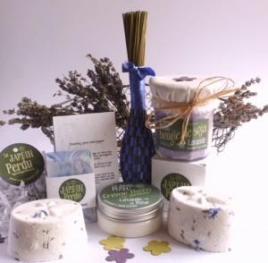 Le Panier de Jardin: Lavande à l'Ancienne. Deluxe Lavender Gift Basket