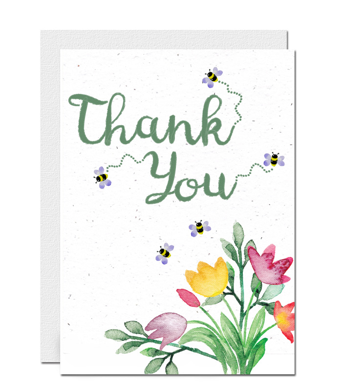 Thank you plantable wildflower seed paper card 3