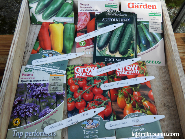 Vegetable seeds for heated propagator